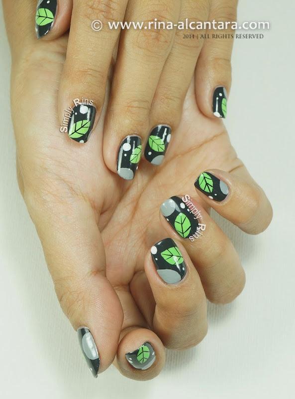 A Leaf Per Nail Nail Art by Rina Alcantara