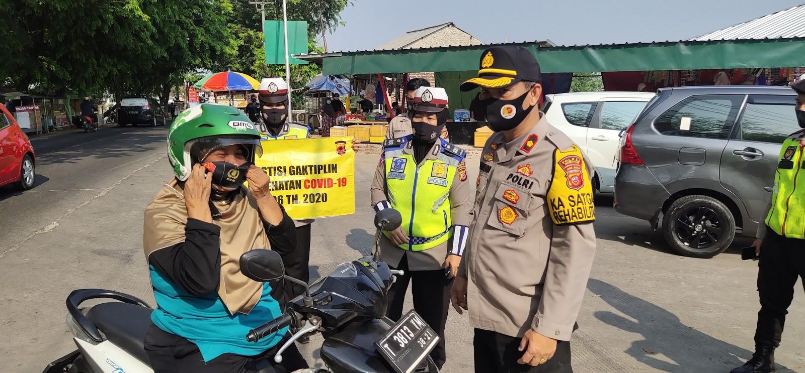 Personel Polres Subang Polda Jabar Gelar Operasi Yustisi Tahun 2020