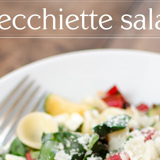 Orecchiette and Sauteed Vegetable Salad.