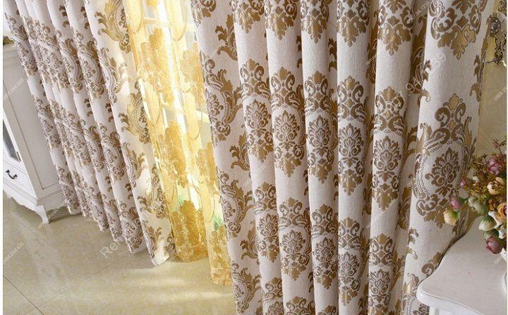 Rèm vải đẹp hà nội họa tiết đơn giản 16