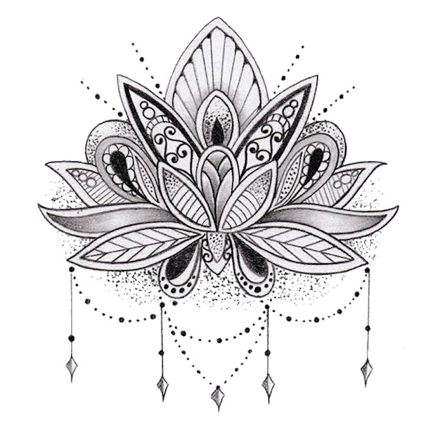 Mandala Lotus Flower By Mermaidnatalie Redbubble