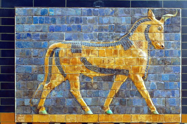 Bull on Wall of Babylon (Istanbul, Turkey)