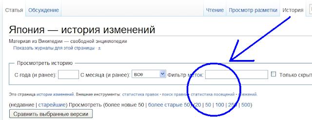 Статистика в wikipedia
