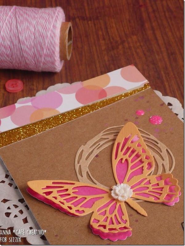 Biglietto Compleanno Farfalla traforata con fustelle Sizzix