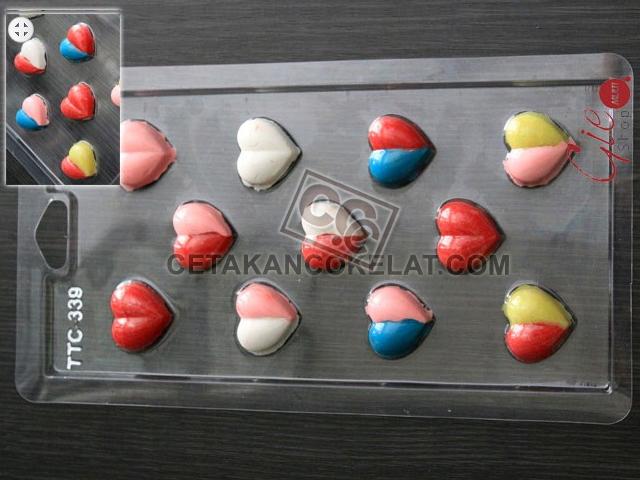 cetakan coklat cokelat  TTC339 Love