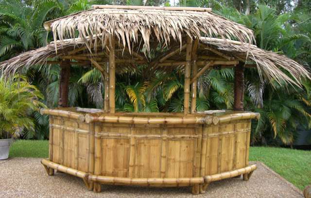 Sleek Tropical Garden Furniture Bamboo Tiki Huts Bars