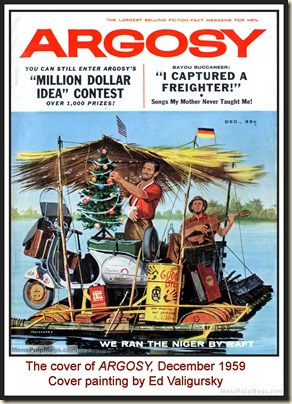 ARGOSY, Dec 1959. Cover by Ed Valigursky MPM