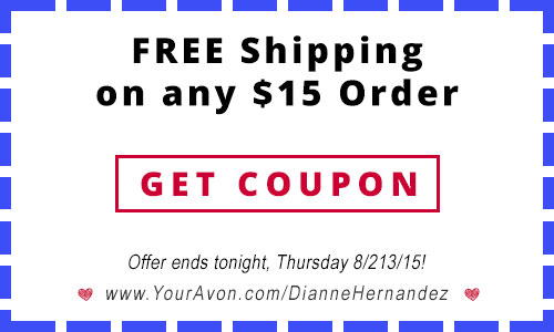 Get Free Shipping with Any $15  Avon Order