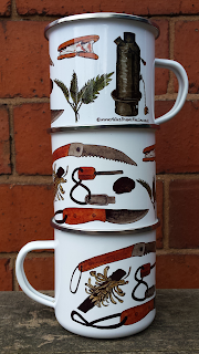 Bushcraft kit Enamel Mug by Alice Draws The Line