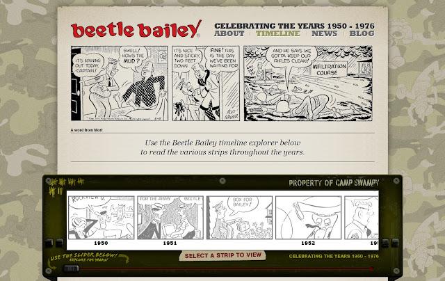 *動態呈現的美國漫畫網站|Beetle Bailey Web Site 4