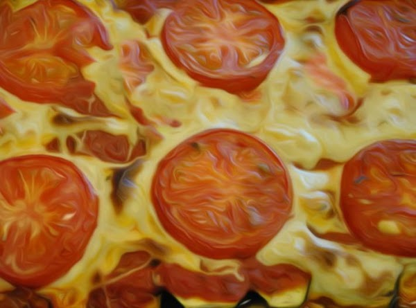An excellent vegetable lasagna, that even without any meat, is quite tasty.
