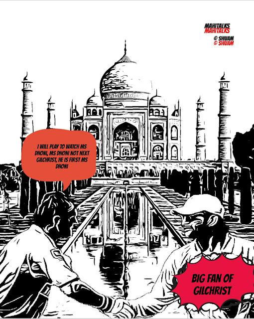 Taj Mahal Image, MS Dhoni Image, Adam Gilchrist Image, Comics, Visual Graphics, World Cup, Australian Cricketer, Indian Cricketer, ipl