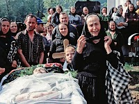Funeral in a village in Maramures. Her twin sister is being buried.