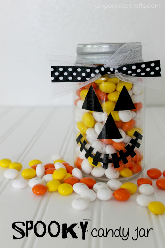 Spooky Candy Jar at GingerSnapCrafts.com #ducktape #fiskars #tutorial_thumb[1]