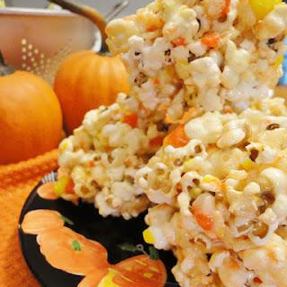 Candy Corn Popcorn Krispie Balls
