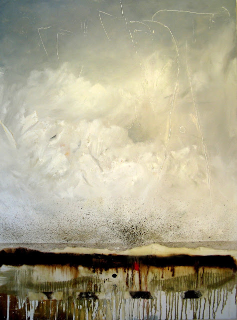 'Sleeping Under the Tundra' 40x30 Mixed media, beeswax, oil on canvas. The Avenue Gallery, Victoria, BC. SOLD