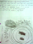 A preK student's drawing and dictation about a moon observation.