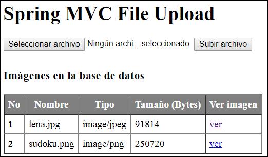 Subir archivos al servidor con Spring Web