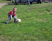 Endelig plads til lidt fodboldspil