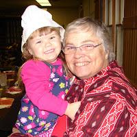 Rachel and Shosho at the school Thanksgiving program