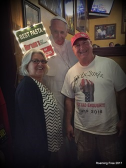 Nancy and Tom with the Pope