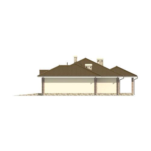 D172 - Zbigniew z garażem wersja drewniana - Elewacja prawa
