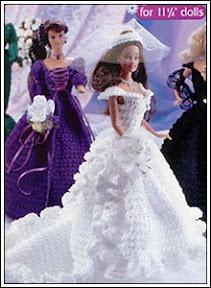 платье невесты для Барби крючком