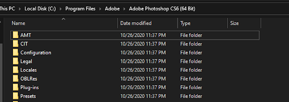 C > Program Files > Adobe > Adobe Photoshop CS6 (64bit)
