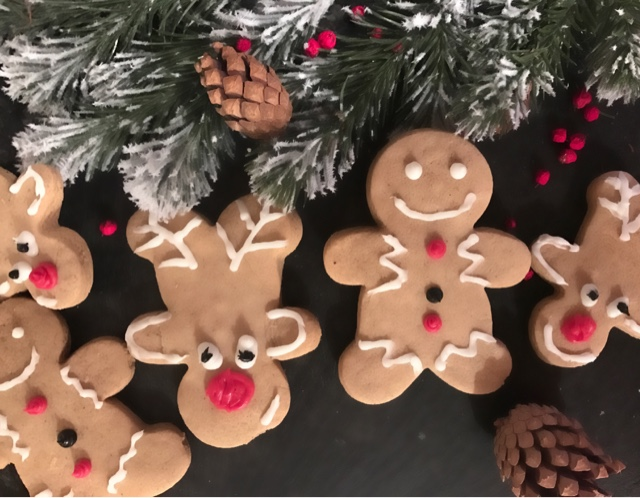 Ginger Bread Men and Reindeer Biscuits