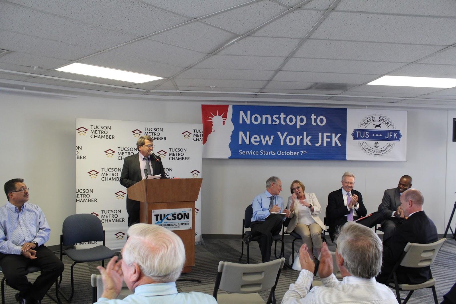 Tucson - JFK Non-Stop Route Announcement - IMG_3174.JPG