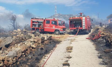 Πυρκαγιά στην Αίγινα στην περιοχή Βροχείων - Επιχειρούν και εναέρια μέσα
