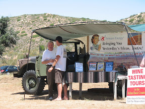 Bob discussing off-roading with the California Overland owner. I forgot his name :-(