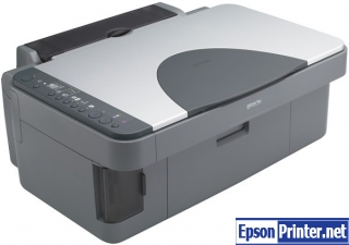 Reset Epson RX425 printing device with software