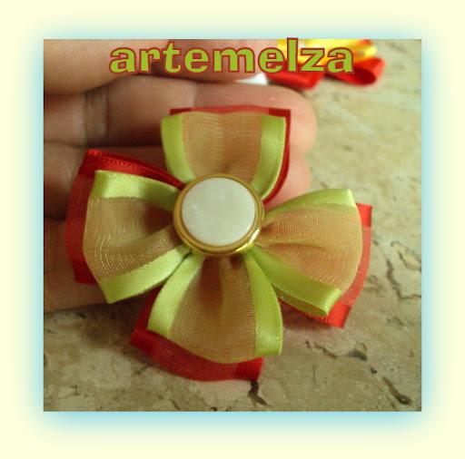 artemelza - flor com duas fitas