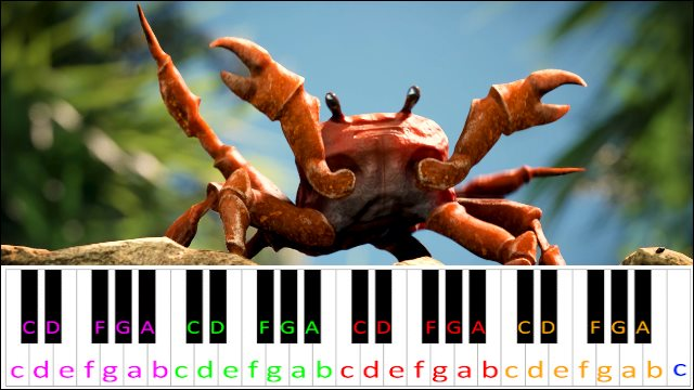 Crab Rave by Noisestorm ~ Piano Letter Notes