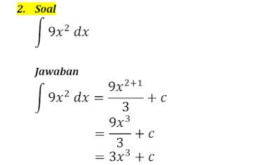 contoh integral tak tentu 2
