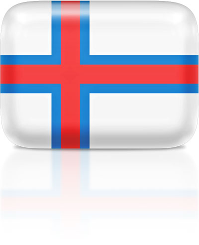 Faroese flag clipart rectangular
