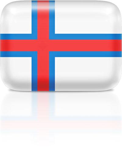 Faroese flag clipart rectangular