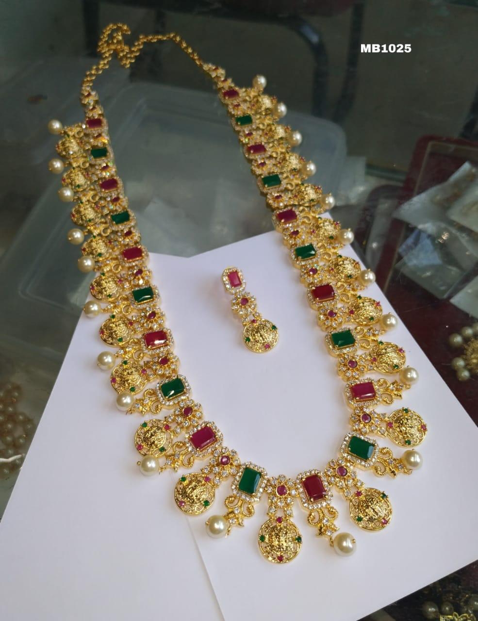 Sale Offer Long Haram One Gram Gold Indian Jewelry Designs