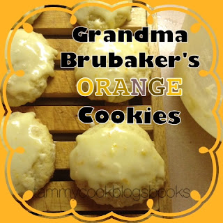 Grandma Brubaker's Orange Cookies ~ source: tammycookblogsbooks