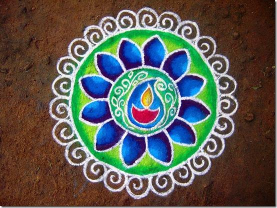 Rangoli para Diwali   (1)