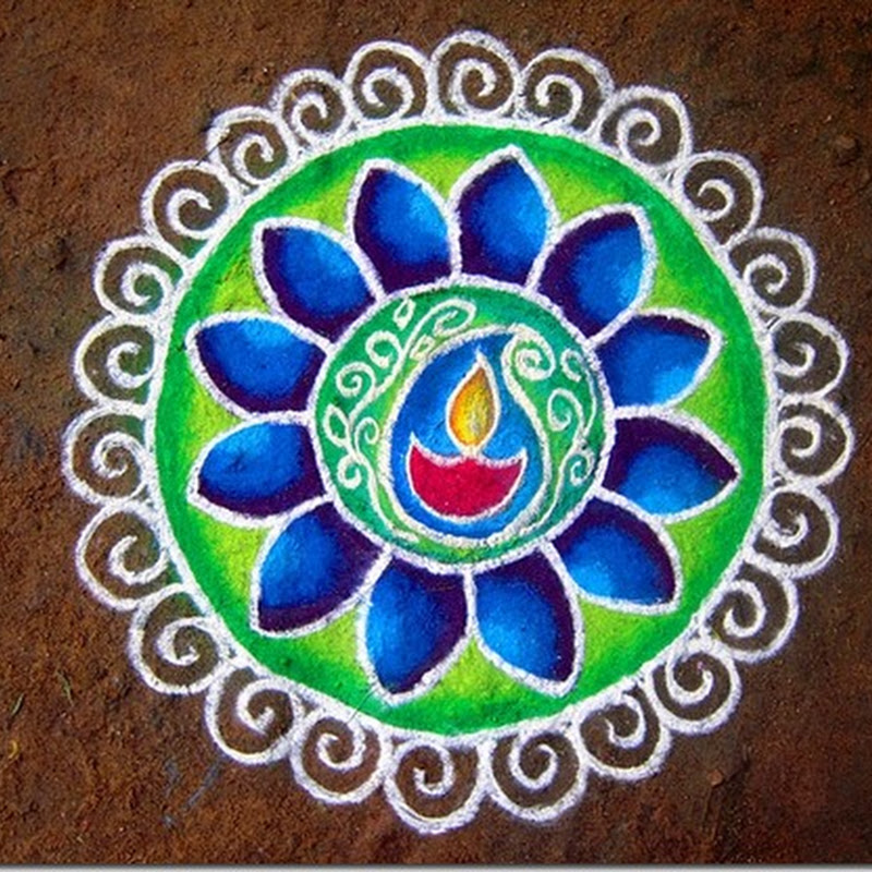 Fotos de Rangoli de la india
