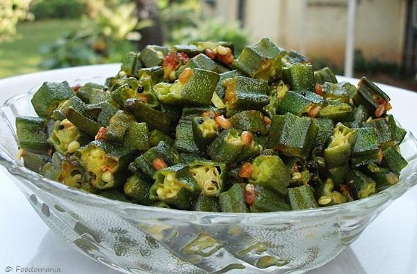 Okra stir fry recipe