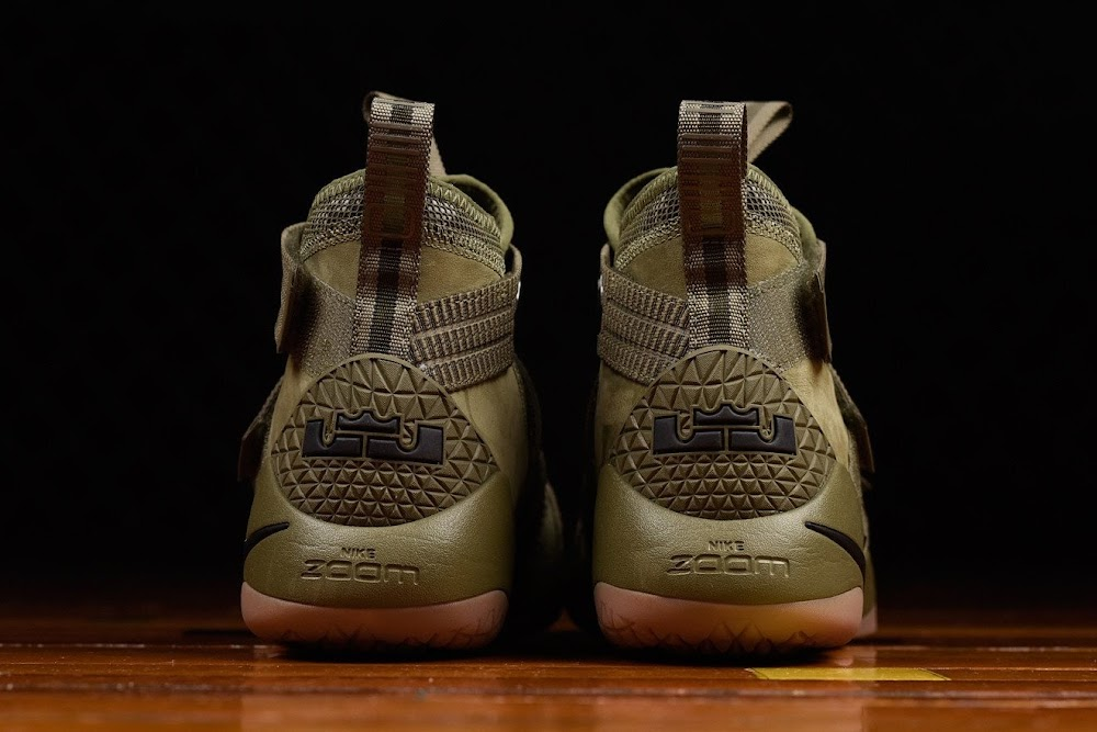 28ebe942c67e ... Closer Look at Nike LeBron Soldier 11 Olive