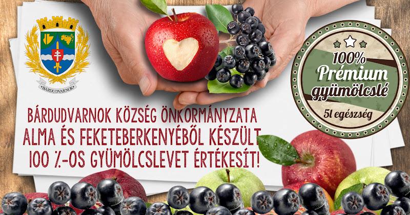 Feketeberkenye és almalé gyümölcslé a Petörke Portékán 2015