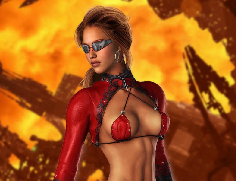 Red Flame Fantasy Girl, Magic Beauties 1