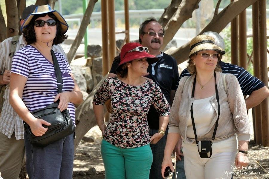В Гамле – древним еврейском городе – крепости. Экскурсия по Голанским высотам. Гид в Израиле Светлана Фиалкова.