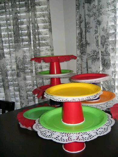 M s y m s manualidades centros de mesa para bocadillos - Como decorar platos ...