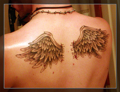 tattoo wing. tattoo wing. stars, Angel