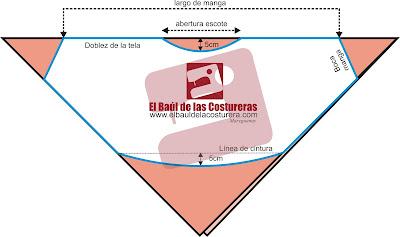 EL BAÚL DE LAS COSTURERAS: Blusa tipo poncho o manga murcielago